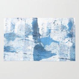Lavender blue colored wash drawing Rug