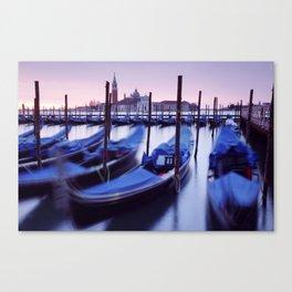 Moored Gondolas in Venice Canvas Print