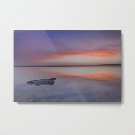 """Purple reflections at the sea"". Bolonia Metal Print"