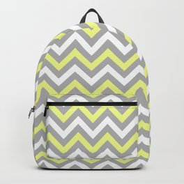 Chevron - yellow and grey Backpack