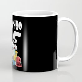 Choo Choo I'm 5 Children's Birthday Train Coffee Mug