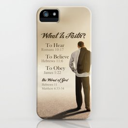 What Is Faith? iPhone Case