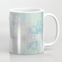 Gentle Blue Grunge Paint Elephant Digital Art Coffee Mug