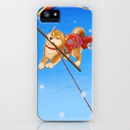 Koi Nobori Shiba Inu iPhone Case