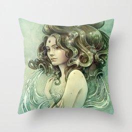 Zodiac Aquarius Throw Pillow
