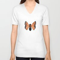moth V-neck T-shirts featuring Moth by Eric Weiand