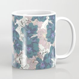 Faded Hibiscus on White Coffee Mug