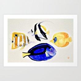 Coral Reef Fish Art Print