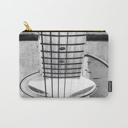 Guitar Strings - Black and White Carry-All Pouch
