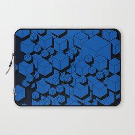 3D Cobalt blue Cubes Laptop Sleeve