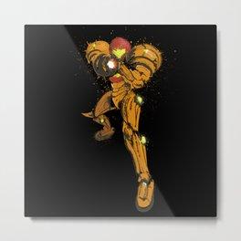 Metroid, Samusplatter Metal Print