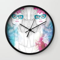 glasses Wall Clocks featuring Glasses by Camis Gray