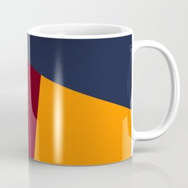 dégradé trapèze bleu rouge Coffee Mug
