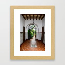 Spanish doorway Framed Art Print