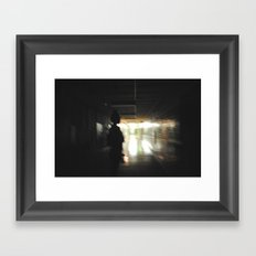 Down the old hall Framed Art Print
