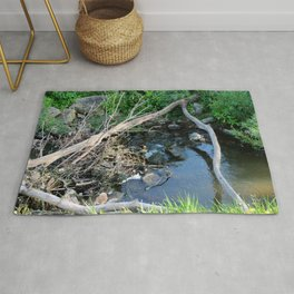 Little Stream in the Forest Rug
