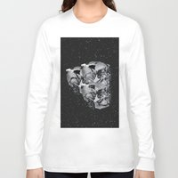 skulls Long Sleeve T-shirts featuring Skulls by Mrs Araneae