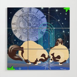 The Boy Cats Study Cosmology Wood Wall Art