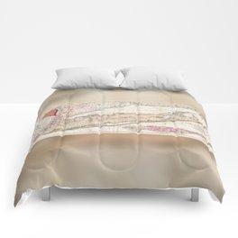 Long Island New York 1842 Mather Map Comforters