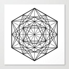 Geometric Mandala (Black) Canvas Print