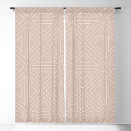 Angled Nude Blackout Curtain