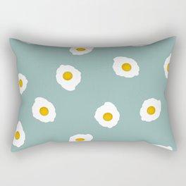 Digital art blue pop art print Eggstatic Rectangular Pillow