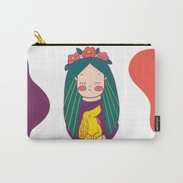 Green haired Girl & Yellow Dog Carry-All Pouch
