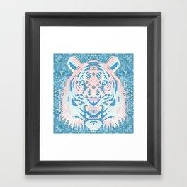 Pastel Quartz Tiger Framed Art Print