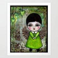 My Little Creepy Girl Angel 2 Published in Somerset Studio Gallery Art Print