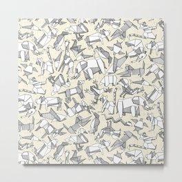 origami animal ditsy pearl Metal Print