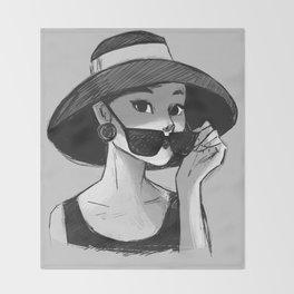 Audrey Hepburn - Glasses Throw Blanket