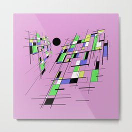 Bad perspective - Abstract, vector, geometric, 3D style artwork Metal Print
