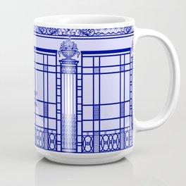 ART DECO, ART NOUVEAU IRONWORK: French Blue Coffee Mug