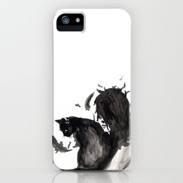 Black Cat Pixel iPhone Case