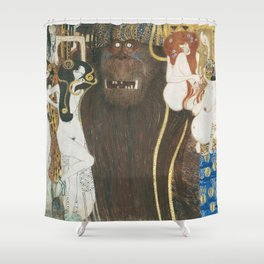 Beethoven Frieze Gustav Klimt Shower Curtain