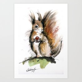 Bushy tail Art Print