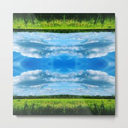 Upside Down Land Metal Print