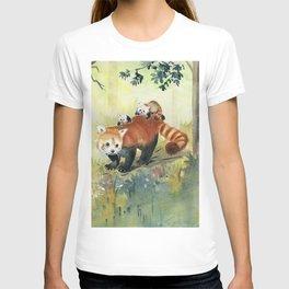 Red Panda Family T-shirt