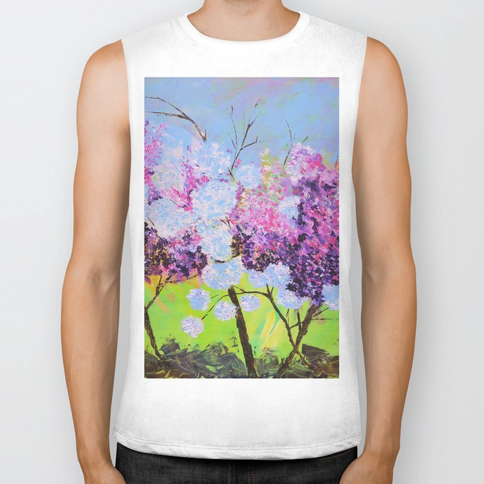 lilac painted Biker Tank
