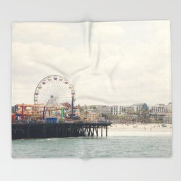 Santa Monica Pier. Happy Birthday Pacific Park!  Throw Blanket