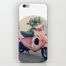Pink Scooter iPhone & iPod Skin