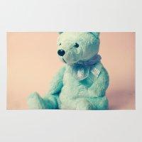 teddy bear Area & Throw Rugs featuring Teddy Bear by Hilary Upton