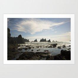 In with the Tide - Shi Shi Beach, WA Art Print
