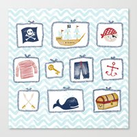 pirates Canvas Prints featuring Pirates by Jill Byers