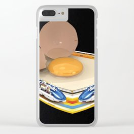 Egg Trains Clear iPhone Case