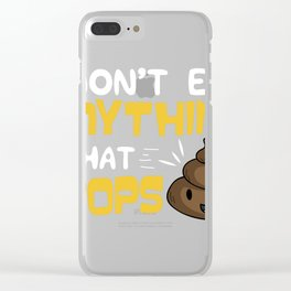 Funny Vegan Humour Tee | Vegetarian Lovers Gift design Clear iPhone Case