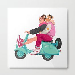 A Valentine with sneaker and Vespa Metal Print