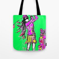 girl power Tote Bags featuring Girl Power by sladja