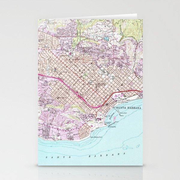 Vintage Map of Santa Barbara California (1952) Stationery Cards by on ojai california map, san pedro california map, san diego california map, grossmont california map, bay area california map, ventura california map, davis california map, san francisco california map, carmel california map, thousand oaks california map, orange county california map, paso robles california map, anaheim california map, mono lake california map, palm springs california map, lake tahoe california map, long beach california map, pacific coast highway california map, los angeles california map, turlock california map,