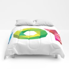 Multi-colored Joy Comforters